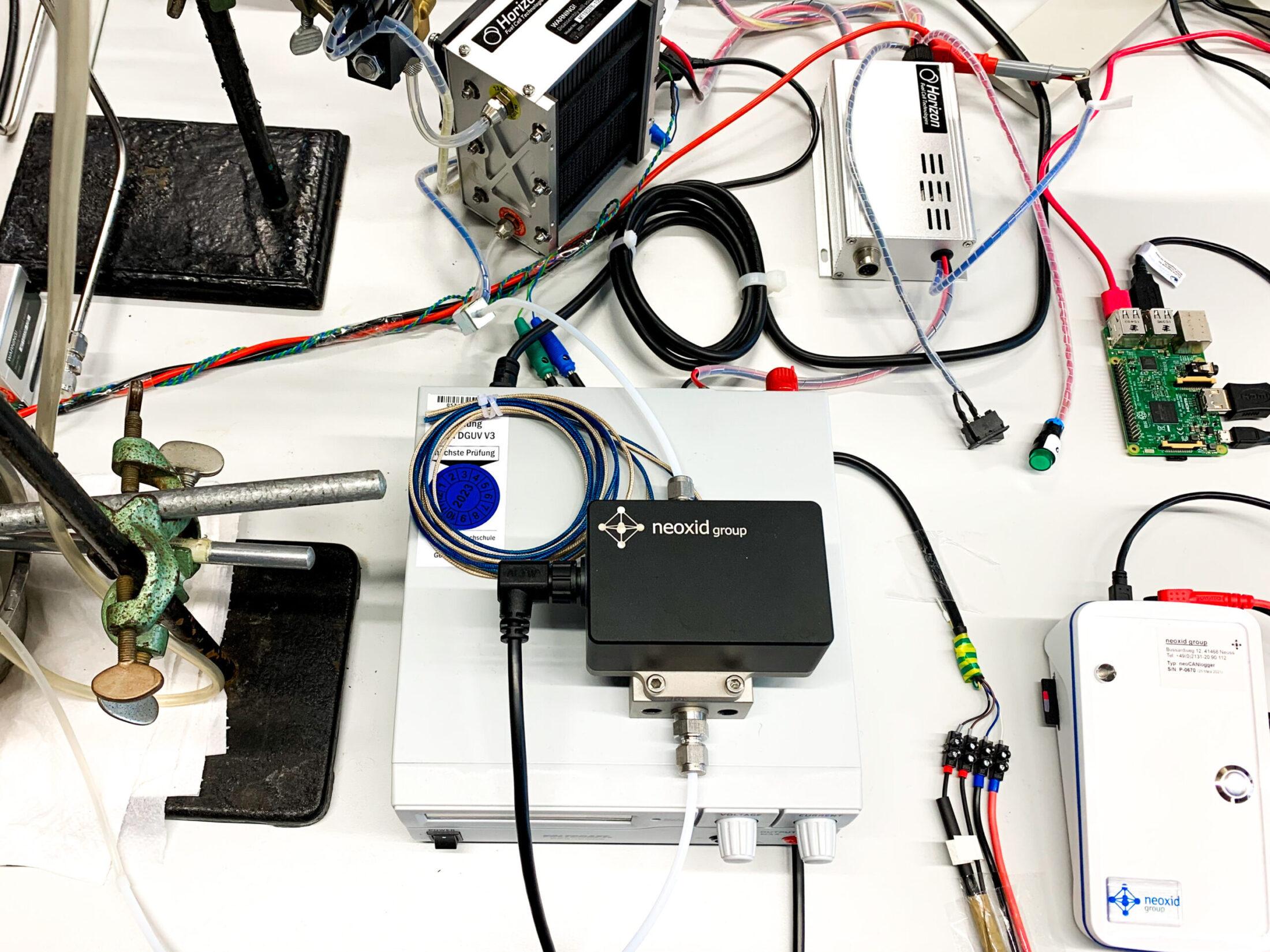 Brennstoffzelle mit Sensoren
